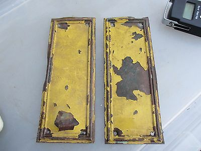 Victorian Brass Finger Plates Push Door Handles Architectural Antique BENT-WAVY