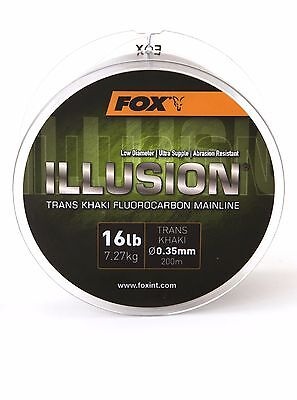 Fox Illusion Soft Fluorocarbon Mainline - All The Breaking Strengths