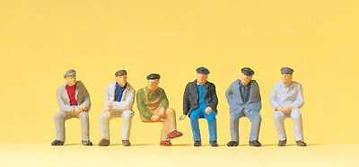 Figurines Ho 1/87 Preiser 14084 - Ouvriers Assis