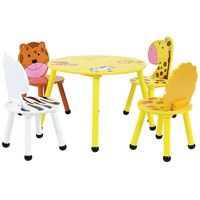 Bentley Kids Jungle Safari Wooden Table & 2 Or 4 Chairs Set Children'S Furniture
