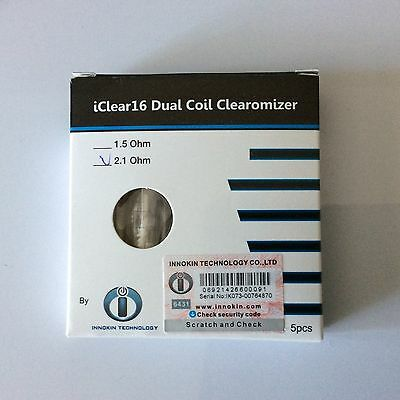 innokin i16 dual coil clearomiser five pack
