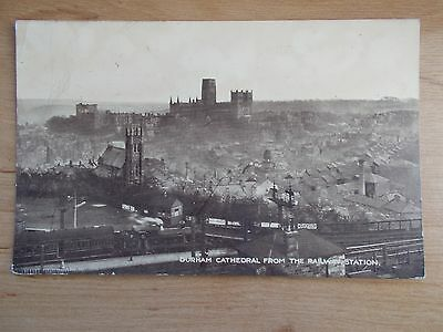 Vintage Postcard - Durham Cathedral From The Railway Station