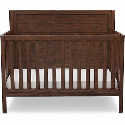 Convertible Crib 4 in 1 Rustic Oak Wood Child Bedroom Nursery Toddler Bed Daybed