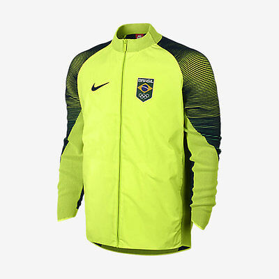Nike Men's 2016 Rio Brazil Olympic Team Brasil Dynamic Reveal Podium Jacket