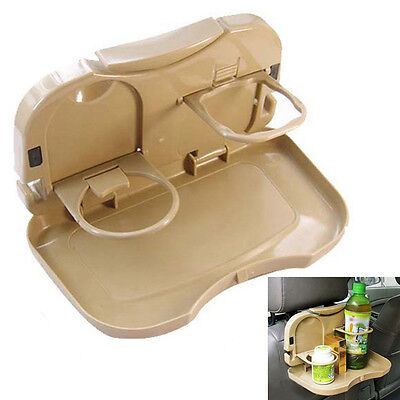 Drink Cup Holder Food Accessories Tray Table Stand Desk Mount Car Auto Seat Back