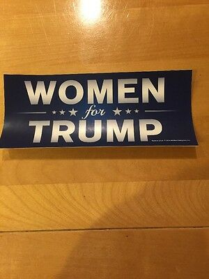 WOMEN FOR DONALD TRUMP STICKER President I'm a girl woman