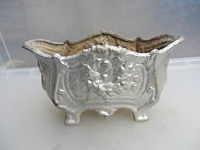 Antique Cast Iron Trough Tub Plant Pot Jardiniere French 1800's Planter Vintage