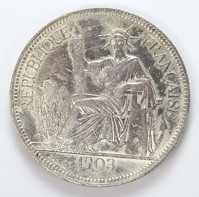 1903 A French Indo China Silver Piastre KM5a.1 - XF #01312458g