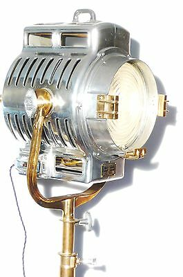 Vintage Film Light Industrial Antique Studio Lamp Mole Richardson 210 Art Deco
