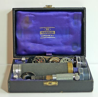 Vintage ophthalmoscope in box by Hamblin London