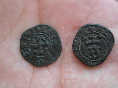 Münzen Medieval LOT 2 coins - Portugal to identify