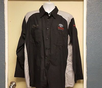 Red Kap Toyota TRD Long Sleeve Mechanic/Tech Shirt