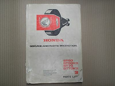 Honda ST 50 70 ST50 ST70 genuine parts list book 1309804 sept 1977 USED