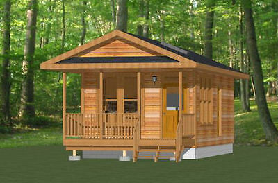 14x28 Tiny House -- 391 sq ft -- PDF FloorPlan -- Model 3B