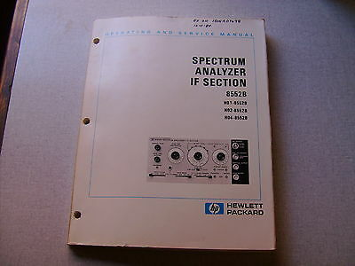 Service  Manual for  HP 8552B  Spectrum Analyzer  IF section for 141 mainframe