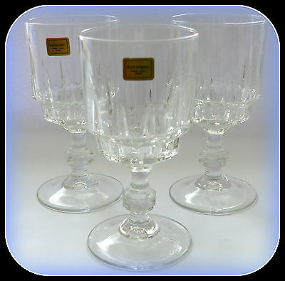 Vintage Wine/water Glasses Luminarc  Clear  Glass Set Of 3