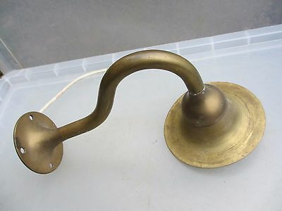 Vintage Brass Wall Light Antique Style Shop Lighting Look Old 1 Arm