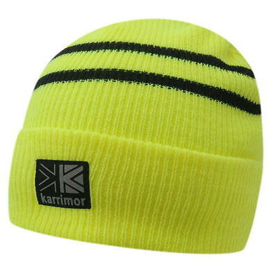 Karrimor Knit Running Hat Mens Womens New With Tags Flective Fluo Yellow