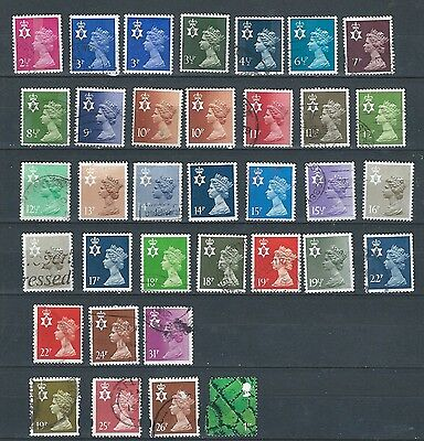 1971-91 Qeii - Northern Ireland Excellent Selection Of 35 Different Vfu  Stamps