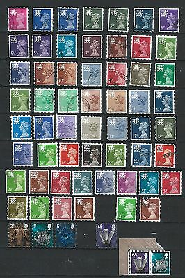 1971 QEII  WALES EXCELLENT SELECTION OF 62 VFU DIFFERENT STAMPS  to 68p (2)