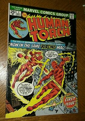The Human Torch #1 (Sep 1974, Marvel) 8.0 NICE AND SHARP! C PHOTOS + DESCRPTION