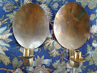 Early Amer. Handcrafted Artisan Repro Brass Sconces, S.smithers#428Kg-14