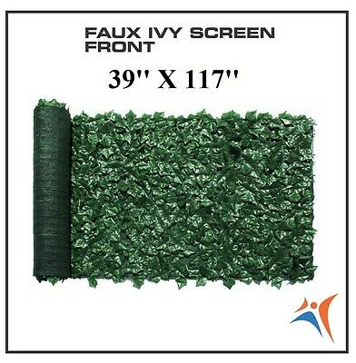 Ivy Leaf Artificial Privacy Fence Gate Screen Panels Wall COVER Decor 39''X117''