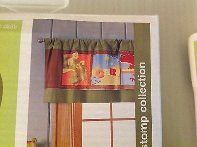 "Circo Roar And Stomp Valance Dinosaurs Curtain Kids Room Set Of Two 15""x54"""