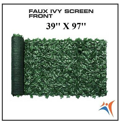 Ivy Leaf Artificial Privacy Fence Gate Screen Panels Wall COVER Decor 39''X97''