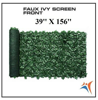 Ivy Leaf Artificial Privacy Fence Gate Screen Panels Wall COVER Decor 39''X156''