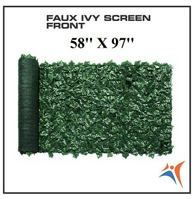 Ivy Leaf Artificial Privacy Fence Gate Screen Panels Wall COVER Decor 58''X 97''