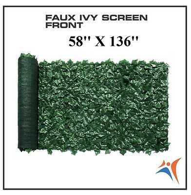 Ivy Leaf Artificial Privacy Fence Gate Screen Panels Wall COVER Decor 58''X136''
