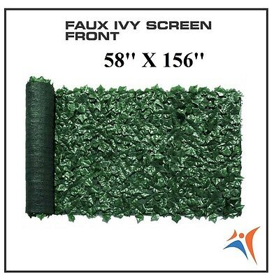 Ivy Leaf Artificial Privacy Fence Gate Screen Panels Wall COVER Decor 58''X156''