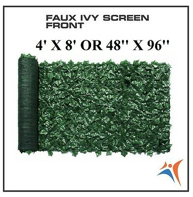 Ivy Leaf Artificial Privacy Fence Gate Screen Panels Wall COVER Decor 4' X 8'
