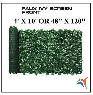 Ivy Leaf Artificial Privacy Fence Gate Screen Panels Wall COVER Decor 4' X 10'
