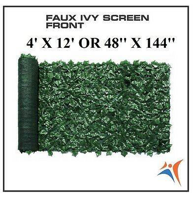 Ivy Leaf Artificial Privacy Fence Gate Screen Panels Wall COVER Decor 4' X 12'