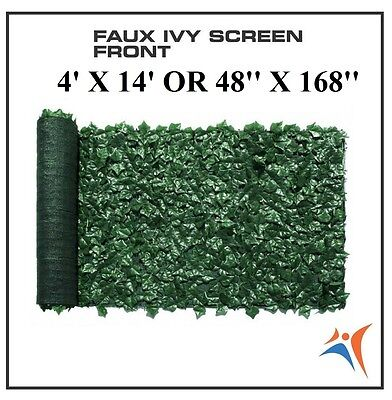 Ivy Leaf Artificial Privacy Fence Gate Screen Panels Wall COVER Decor 4' X 14'