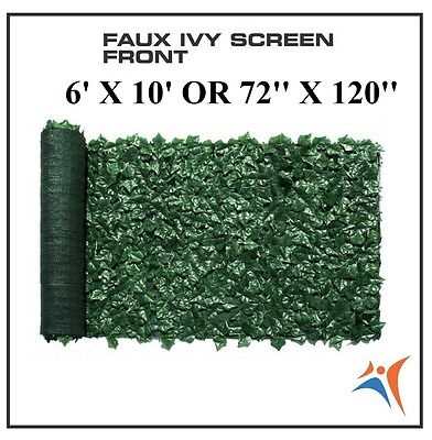 Ivy Leaf Artificial Privacy Fence Gate Screen Panels Wall COVER Decor 6' X 10'