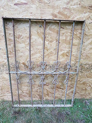 Antique Victorian Iron Gate Window Garden Fence Architectural Salvage Guard F