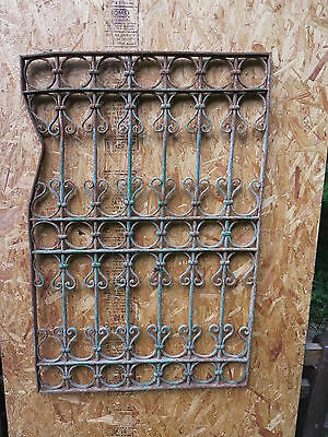 Antique Victorian Iron Gate Window Garden Fence Architectural Salvage Guard K