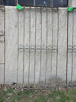 Antique Victorian Iron Gate Window Garden Fence Architectural Salvage Door #320