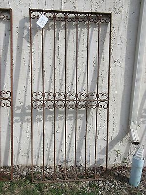 Antique Victorian Iron Gate Window Garden Fence Architectural Salvage Door #349