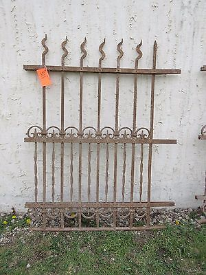 Antique Victorian Iron Gate Window Garden Fence Architectural Salvage Door #311