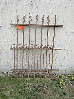 Antique Victorian Iron Gate Window Garden Fence Architectural Salvage Door #313