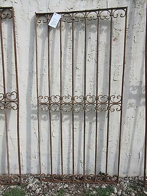 Antique Victorian Iron Gate Window Garden Fence Architectural Salvage Door #341