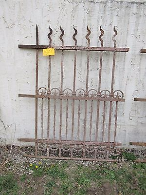 Antique Victorian Iron Gate Window Garden Fence Architectural Salvage Door #307