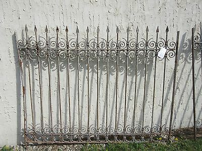 Antique Victorian Iron Gate Window Garden Fence Architectural Salvage Door #357