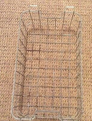 antique galvanized wire storage basket