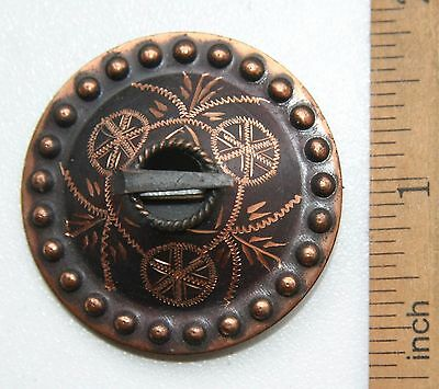 Antique Vintage Ethnic Brass Brooch Pin Sakta Fibula (NOW02)