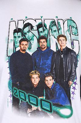 Vtg 90 Nsync Concert Tour T Shirt Nos Ds Youth Large Womens Medium